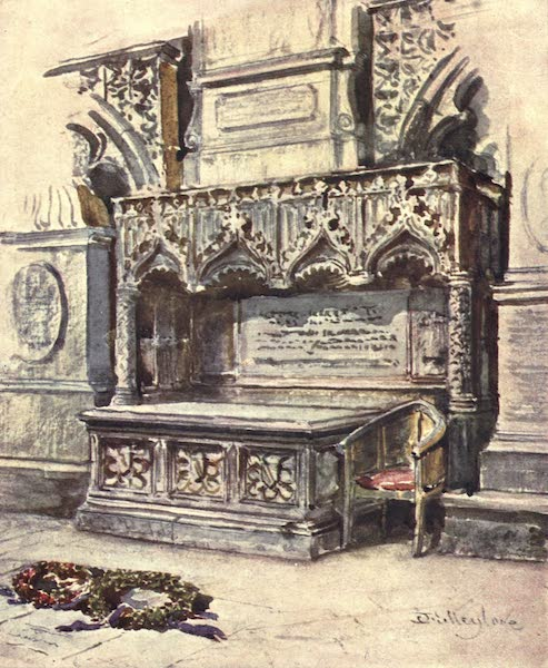 Westminster Abbey Painted and Described - Chaucer's Tomb (1904)