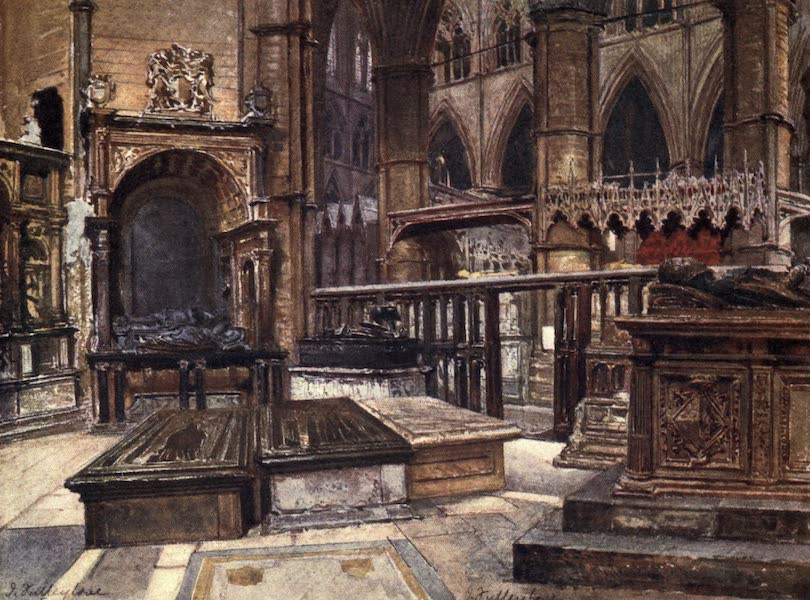 Westminster Abbey Painted and Described - Early Brasses and Picturesque Tombs in St. Edmund's Chapel (1904)