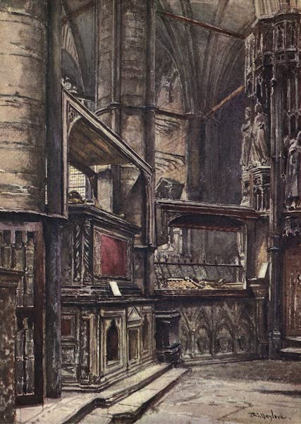 Westminster Abbey Painted and Described - The Tomb of Henry III. from St. Edward's Chapel (1904)