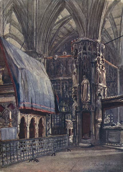 Westminster Abbey Painted and Described - St. Edward's Shrine and the Chantry Chapel of Henry V (1904)