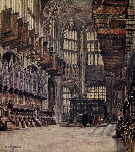 Westminster Abbey Painted and Described - The Chapel of Henry VII., looking East (1904)