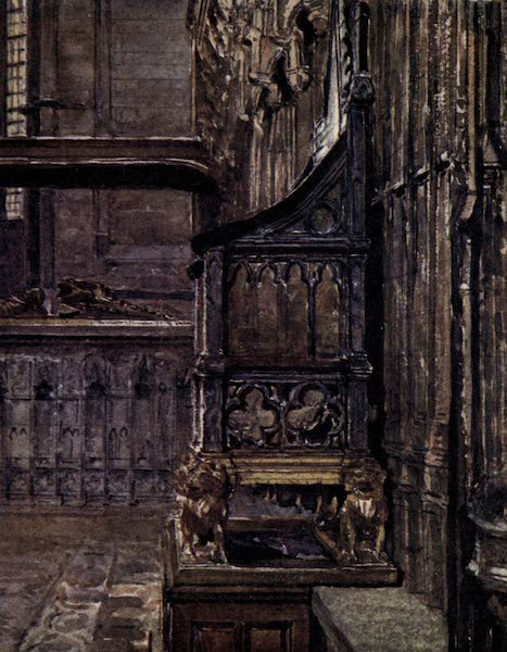Westminster Abbey Painted and Described - The Coronation Chair (1904)
