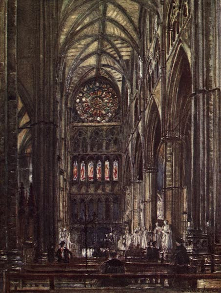 Westminster Abbey Painted and Described - Interior of the North Transept (1904)