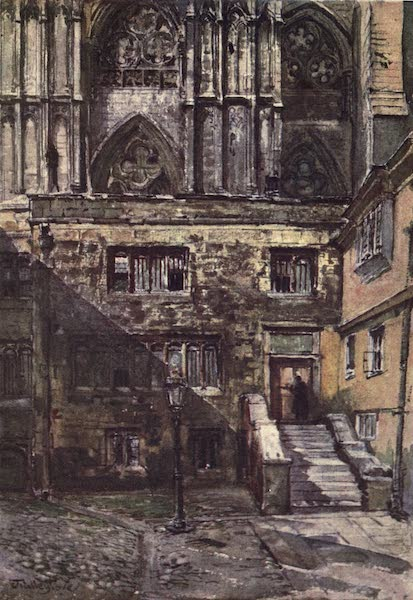 Westminster Abbey Painted and Described - The Abbot's Courtyard and the Entrance to the Jerusalem Chamber (1904)