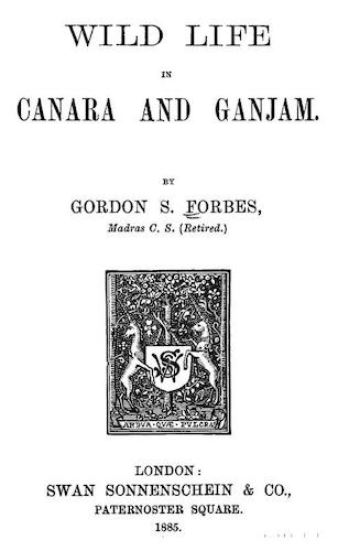 Wild life in Canara and Ganjam (1885)