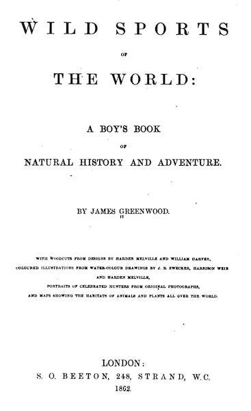Wild Sports of the World - Title Page (1862)