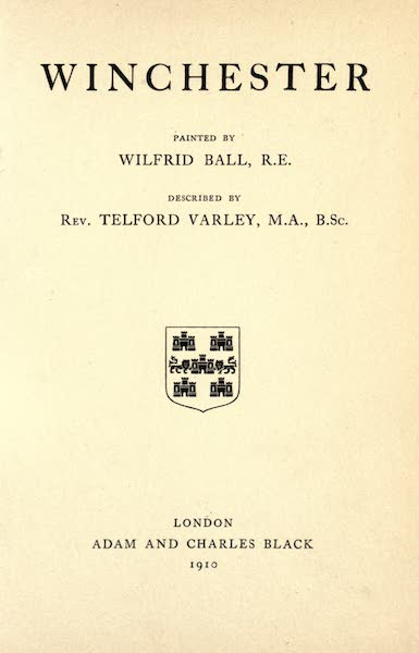 Winchester Painted and Described - Title Page (1910)