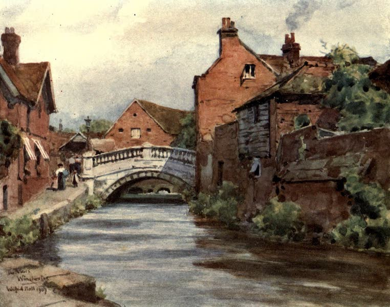 Winchester Painted and Described - The Weirs, Winchester (1910)