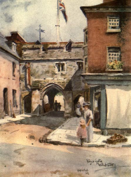 Winchester Painted and Described - King's Gate, Winchester (1910)