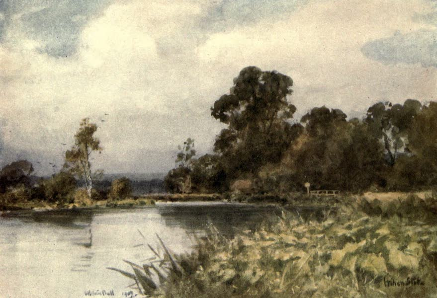 Winchester Painted and Described - Watersplash at Itchen Stoke (1910)
