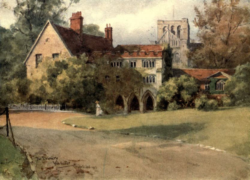 Winchester Painted and Described - The Deanery, Winchester (1910)