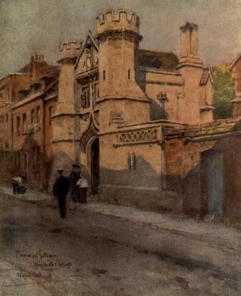 Winchester Painted and Described - Memorial Gateway, Winchester College (1910)