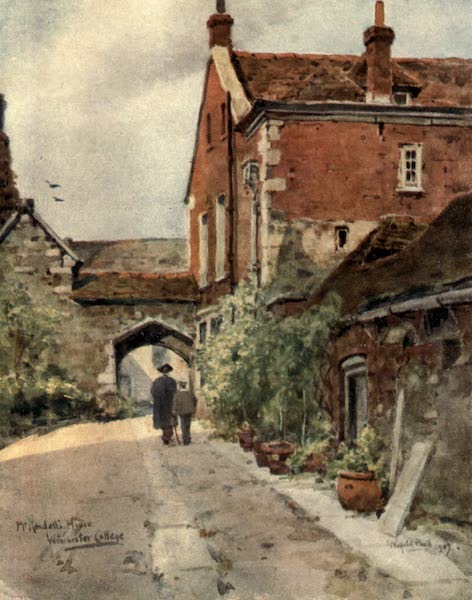 Winchester Painted and Described - Second Master's House, Winchester College (1910)