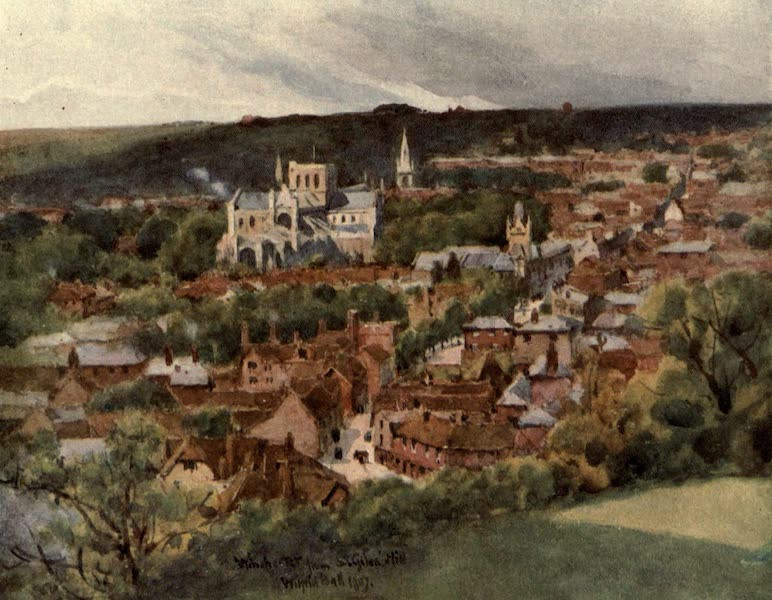 Winchester Painted and Described - Winchester from St. Giles's Hill (1910)