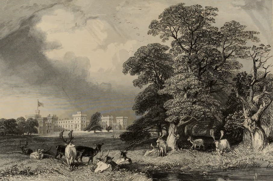 Windsor Castle, and Its Environs - Windsor Castle from the Home Park (1808)