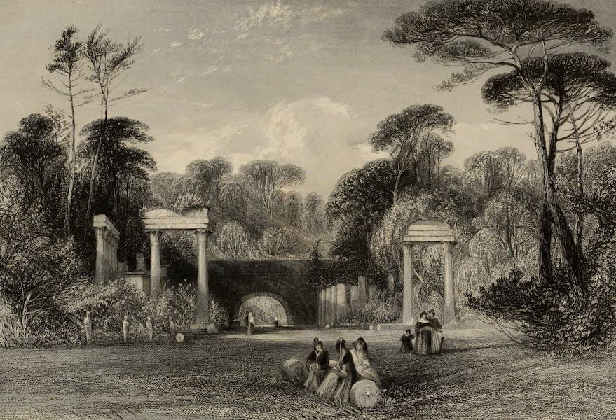 Windsor Castle, and Its Environs - Ruins, Virginia Water (1808)