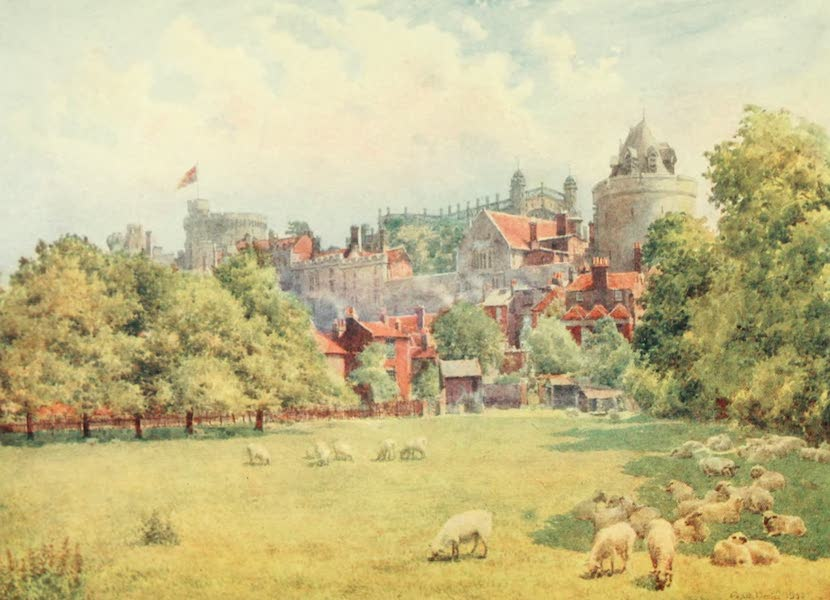 Windsor Painted and Described - The Castle from the Fields (1908)
