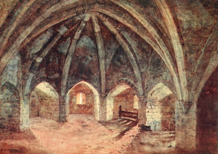 Windsor Painted and Described - The Crypt of the Curfew Tower (1908)