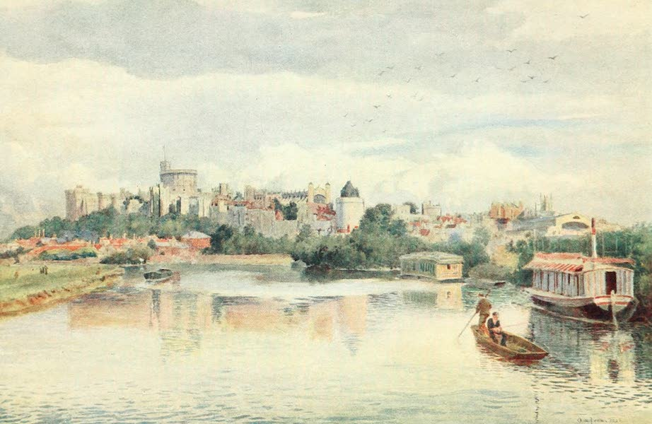 Windsor Painted and Described - Windsor from the River (1908)