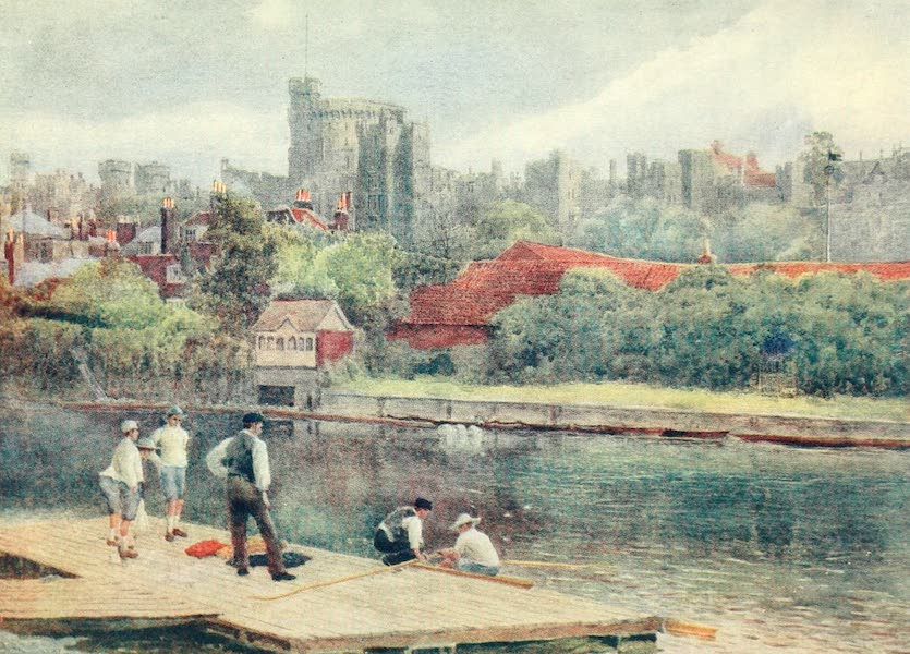 Windsor Painted and Described - The Castle from the Rafts (1908)