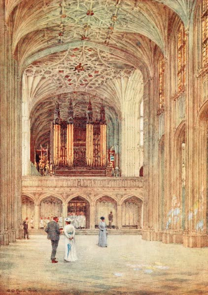 Windsor Painted and Described - The Nave of St. George's Chapel (1908)