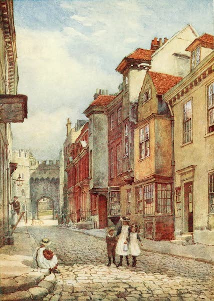 Windsor Painted and Described - Church Street, looking North (1908)