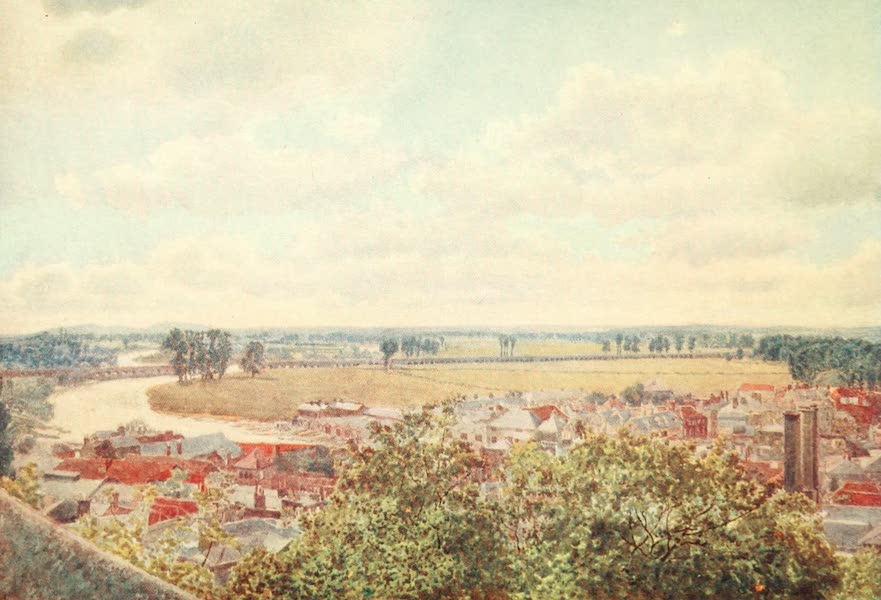 Windsor Painted and Described - Westward View from the North Terrace (1908)