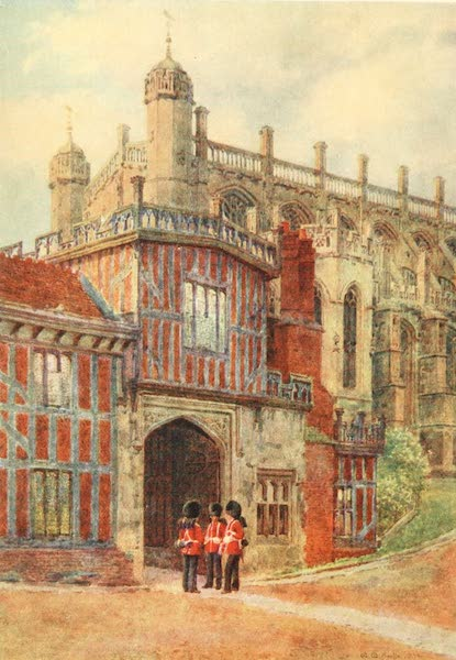 Windsor Painted and Described - Entrance to the Horseshoe Cloisters  (1908)