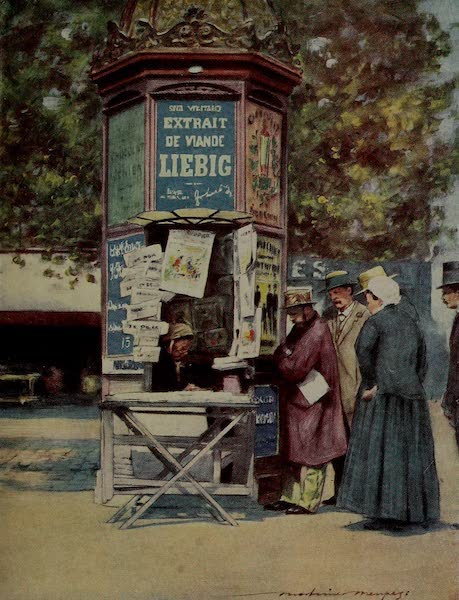World Pictures : Being a Record in Colour - A Kiosque, Paris (1902)