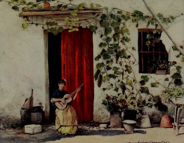 World Pictures : Being a Record in Colour - Courtyard in Seville (1902)