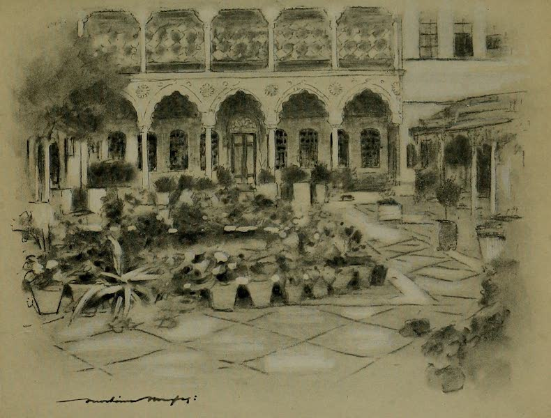 World Pictures : Being a Record in Colour - Courtyard in Damascus (1902)
