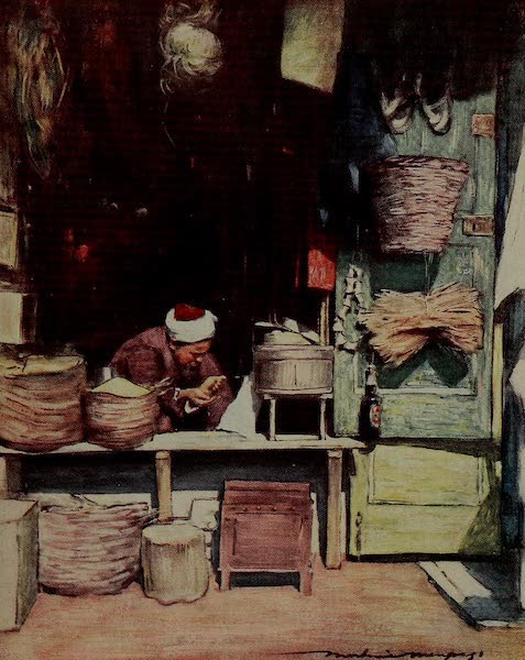 World Pictures : Being a Record in Colour - A Seed Stall, Delhi (1902)