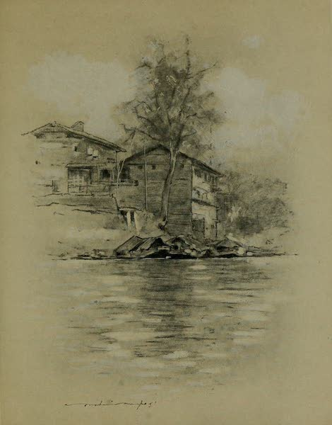 World Pictures : Being a Record in Colour - River Dwelling at Srinagar (1902)