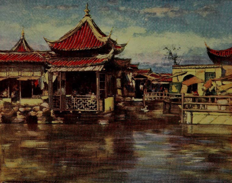 World Pictures : Being a Record in Colour - A Tea House, Shanghai (1902)