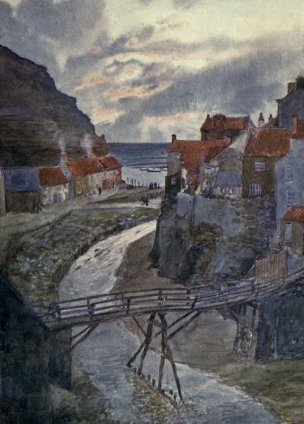 Yorkshire Coast and Moorland Scenes Painted and Described - Sunrise from Staithes Beck (1904)
