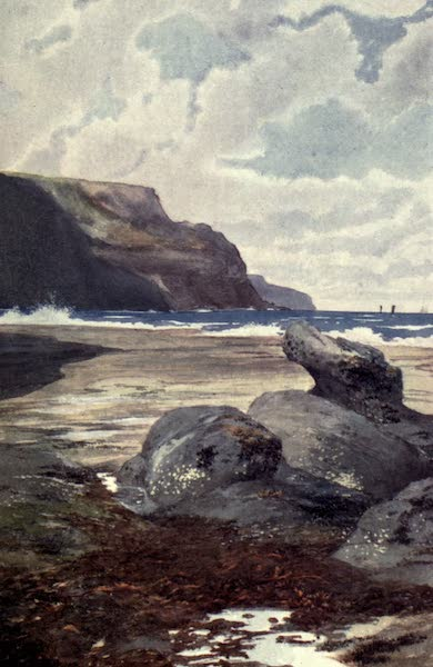 Yorkshire Coast and Moorland Scenes Painted and Described - Boulby Cliffs from Staithes Scaur (1904)