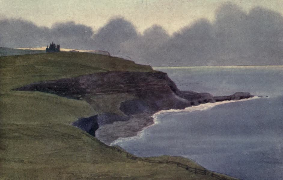 Yorkshire Coast and Moorland Scenes Painted and Described - Whitby Abbey from the Cliffs (1904)