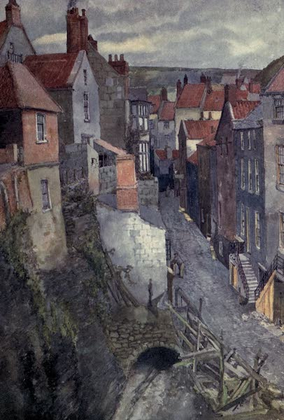 Yorkshire Coast and Moorland Scenes Painted and Described - A Street in Robin Hood's Bay (1904)
