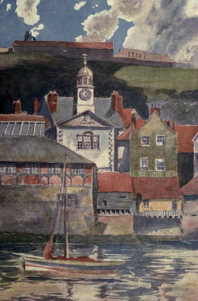 Yorkshire Coast and Moorland Scenes Painted and Described - Sunlight and Shadows in Whitby Harbour (1904)