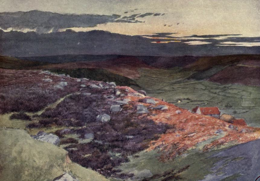 Yorkshire Coast and Moorland Scenes Painted and Described - A Sunset from Danby Beacon (1904)