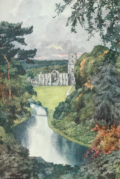Yorkshire Dales and Fells Painted and Described - Fountains Abbey (1906)