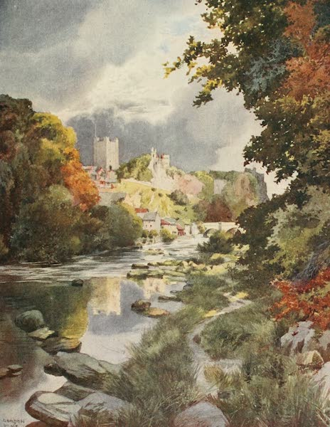 Yorkshire Dales and Fells Painted and Described - Richmond Castle from the River (1906)