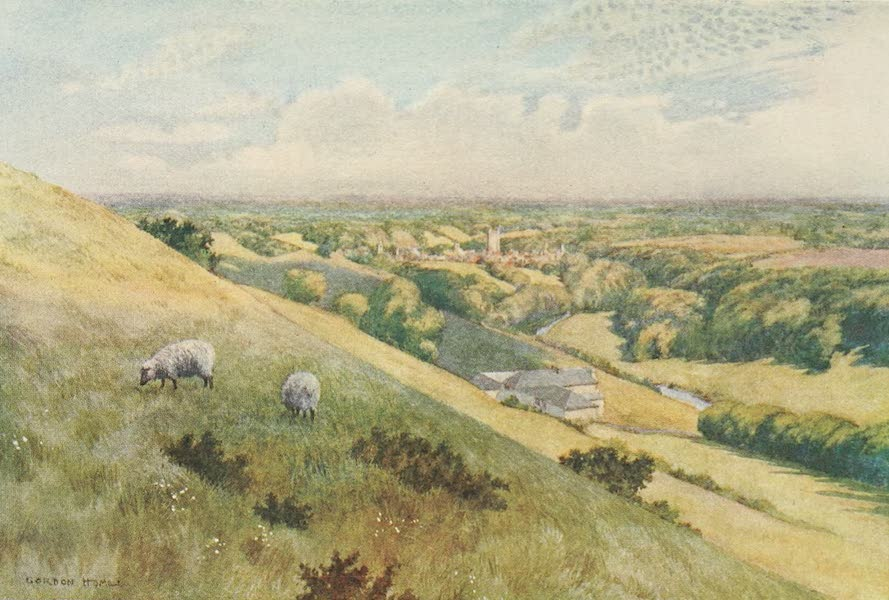 Yorkshire Dales and Fells Painted and Described - Richmond fro mthe West (1906)