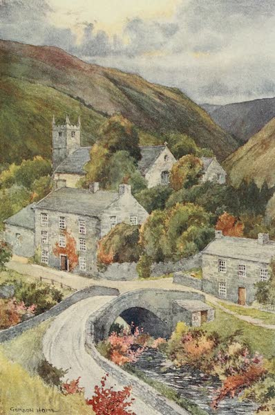 Yorkshire Dales and Fells Painted and Described - Muker on a Stormy Afternoon (1906)