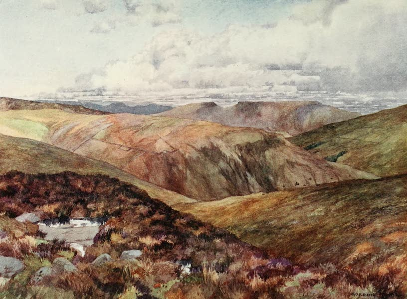 Yorkshire Dales and Fells Painted and Described - A Rugged View above Wensleydale (1906)
