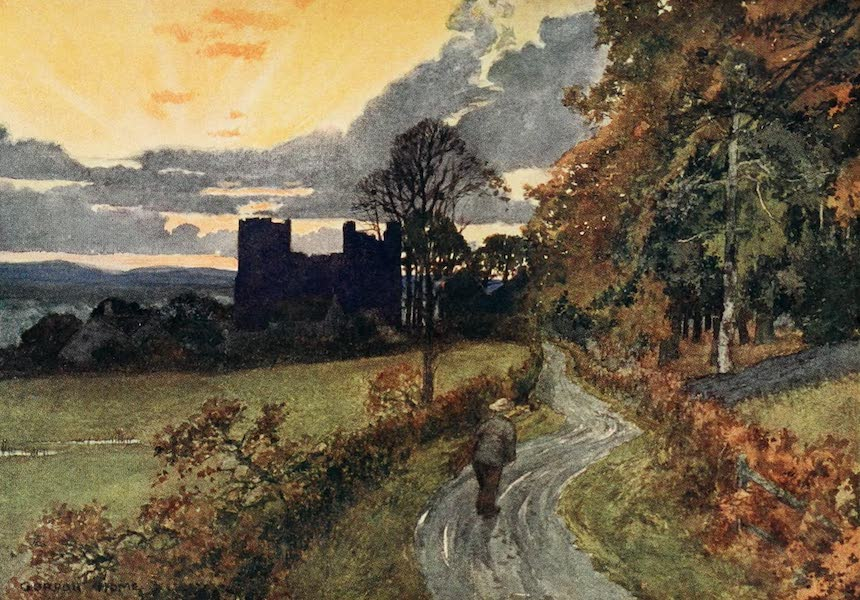 Yorkshire Dales and Fells Painted and Described - Bolton Castle, Wensleydale (1906)