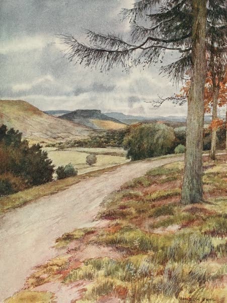 Yorkshire Dales and Fells Painted and Described - View up Wensleydale from Leyburn Shawl (1906)