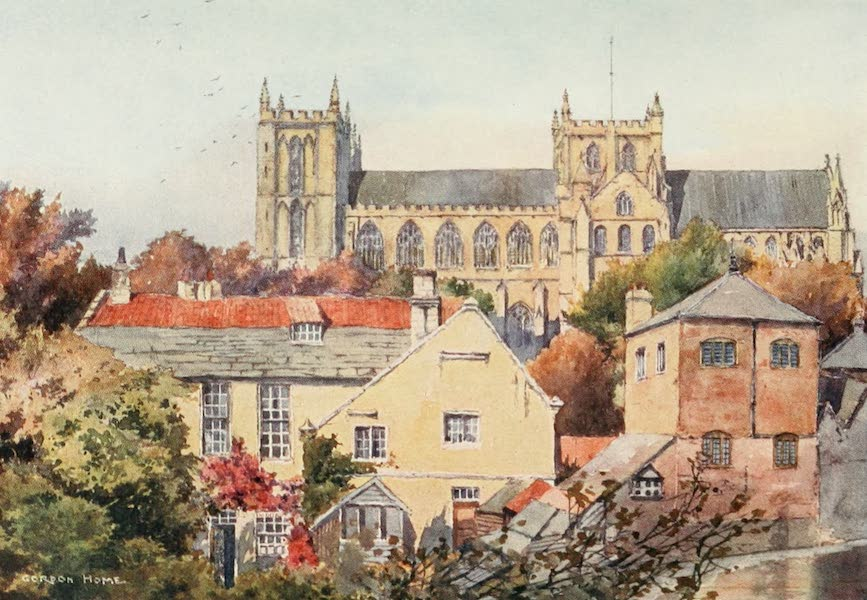 Yorkshire Dales and Fells Painted and Described - Ripon Minster from the South (1906)