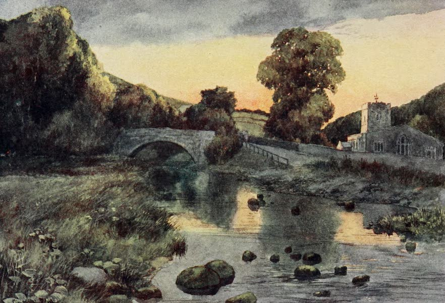 Yorkshire Dales and Fells Painted and Described - Hubberholme Church (1906)