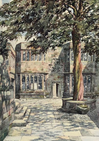 Yorkshire Dales and Fells Painted and Described - The Courtyard of Skipton Castle (1906)